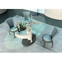 Avantgarde Candy Oval Glass Top Dining Table