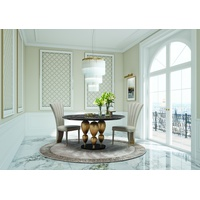 Imperador Small Round Marble Top Dining Table