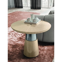 Sunset Pedestal End Table